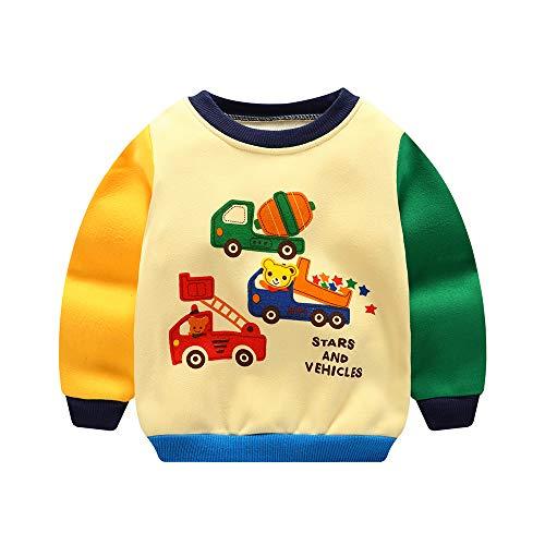 Kinder Pullover Junge Heavy Blend Crewneck 3D Bedruckte Sweatshirt Unisex Sweat Langarm Sport T-Shirt Pull Winter Alter 1-3 -
