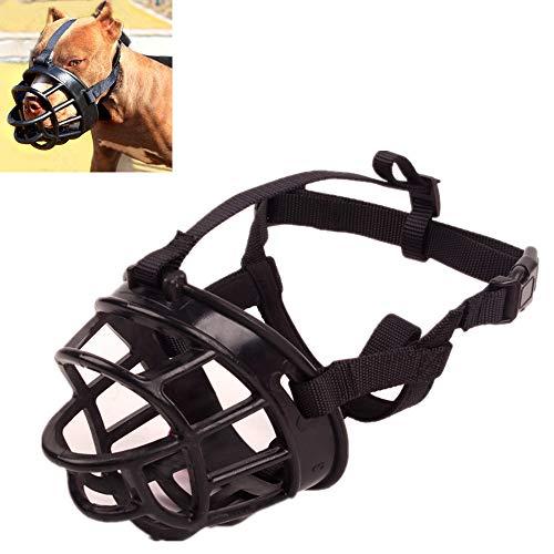 FWY Hundemundabdeckung, Silikon-Hundemaske gegen Biss, verstellbares Nylon-Reflexband, Hunde mit aggressivem Verhalten geeignet