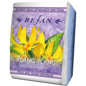 PEELING SOAP SPONGE 75g - LAVENDER AND YLANG-YLANG