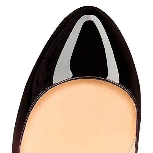 EDEFS Damen High Heels Elegant Runde Zehe Geschlossen Pumps Hoch Absatz Schuhe Gradient
