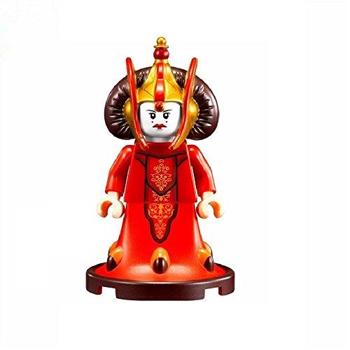 Queen Padme Amidala Star Wars Minifigur Lego Benutzerdefinierte Minifigure kompatibel mit Lego Diy Figuren Limitierte Edition - perfekt für Weihnachten - (Wars Amidala Star)