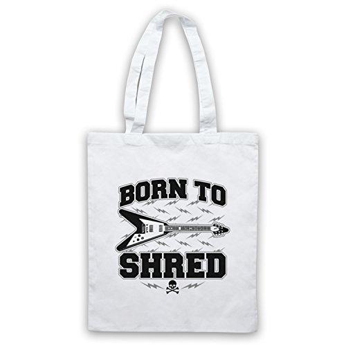 Born To Shred Guitar Love Slogan Umhangetaschen Weis