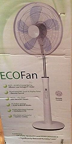 NSA 16'' Piédestal Eco Fan Oscillant,Inclinaison,Au calme,Télécommande SF-4057RC