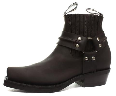 Grinders Renegade Lo Crazy Horse Brown Mens Cowboy Boots UK Size 8