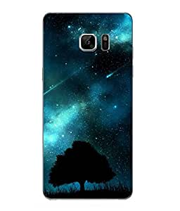 Snazzy Blue Sky Printed Blue Hard Back Cover For Samsung Galaxy Note 7
