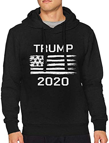 HTHYTJC Yeezy 2020 Kanye West President Trump Man\'s Long Sleeve Hooded Sweatshirt Sweater Pullover Hoodie XXL