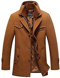 0d4a7a1b9a740 Magiyard Manteau Homme Hiver Chaud Veste Hiver Manteau Hiver Homme Duffle  Coat Homme Pardessus Homme Veste