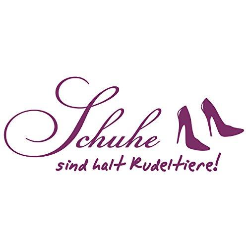 WANDKINGS Wandtattoo – Schuhe sind halt Rudeltiere! – Wähle aus 5 Größen & 35 Farben