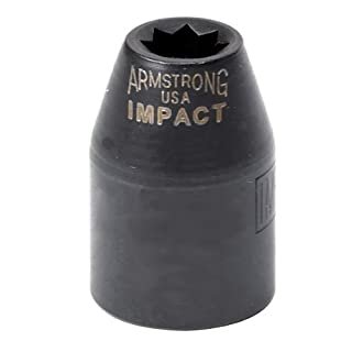 Armstrong 19-822 3/8-Inch Drive 12 Point Impact Socket, 11/16-Inch