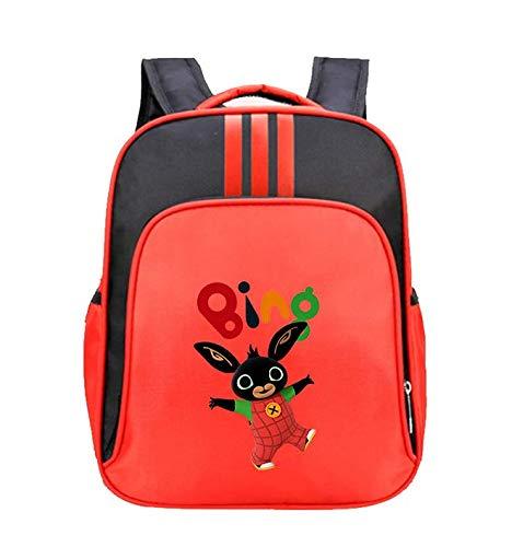 Zaino bing bunny | zaino in peluche per | zainetto asilo bambino per scuola elementare, borsa per giocattoli, borsa da scuola, borsa da viaggio, zaino per bambini (rosso)