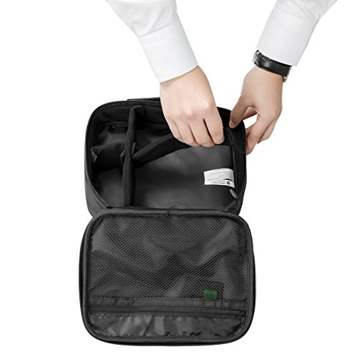 BAGSMART Custodia da Viaggio Universale per Dispositivi Elettronici e Accessori Organizer da Viaggio per Cavi Nero