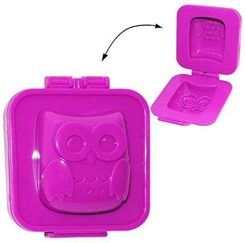 """Knete & Gips Form - """" lustige 3-D Eule """" - Knetform ideal für Knetmasse / Gips gießen - auch zum Dekorieren geeignet - Modellierset / Modelliermasse - Figuren - Knete - Former - Tiere / Eulenform - Kinderknete / Knetbox - Gipsset"""