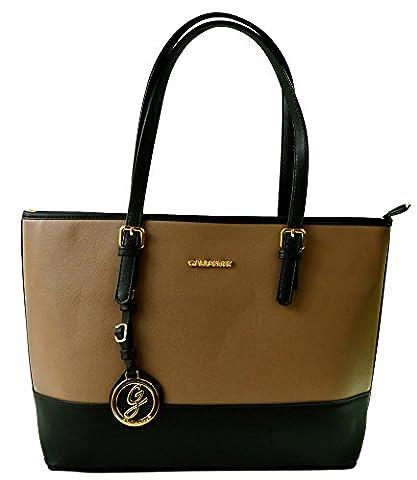 Miniprix sac classeur , Damen Tote-Tasche schwarz schwarz Einheitsgröße, schwarz - Noir/Taupe - Größe: