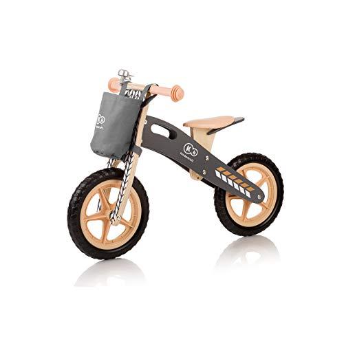 Kinderkraft Laufrad RUNNER inkl. Kinder-Warnweste | Lernlaufrad 12 Zoll | Kinder Fahrrad aus Birkenholz für Kinder ab 3 Jahren | Lauflerner Sitz Höhenverstellbar, Design:Nature