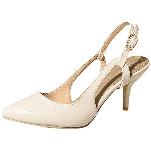 Azbro - Scarpe con cinturino alla caviglia Donna Beige