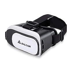Salcar 3D Virtuelle Realität (VR) Brille für 4,5 - 5,7 Zoll Smartphones, Weiß