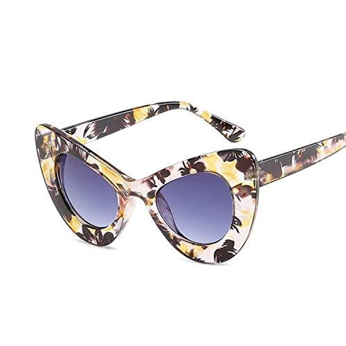 YUHANGH Mode Cat Eye Sonnenbrille Frauen Persönlichkeit Sonnenbrille Für Frauen Klassische Schmetterling Schwarz Rahmen Weiblich