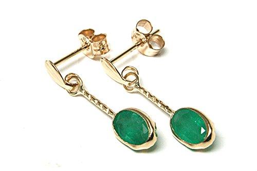 peninsula-jewellery-orecchini-con-pendenti-ovali-in-oro-9-ct-e-smeraldi