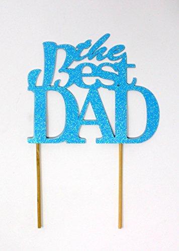 All About Details The Best Dad Tortenaufsatz Glitter Pastel Blue