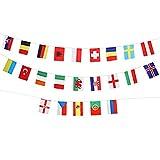 LUOEM 24 Pays Drapeaux Bunting Championnat D'Europe de Football Drapeaux nationaux Bannière pour Club Bar Décoration de Fête Articles de Fête Patriotique...
