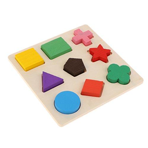 MagiDeal 1 Stk. DIY Spielzeug Steckpuzzle mit 9 Geometrie Blöcke Puzzle für Haustiere-Papageien Kaugegenstand