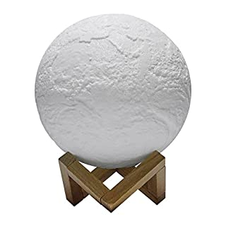 Asosmos 3D Druck Nachtlicht Erde LED Lampe magische Lampe Beleuchtung Nachtlampe Wiederaufladbare USB Laden Beleuchtung für Schlafzimmer Schreibtisch Dekoration Geschenk 9CM 10CM 12CM 15CM 18CM 20CM