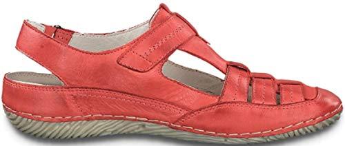 Jana Schuhe Damen Mary Jane Halbschuhe 8-24677-22 (38 EU, Rot)