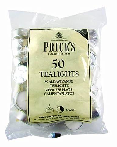 Price's–Bougies non parfumées, 50pièces