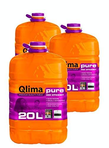 Qlima 20lt combustibile liquido inodore per stufe universale riscaldamento PURE
