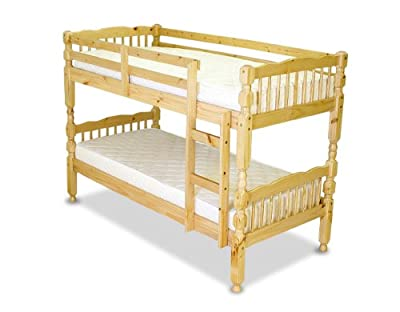 Humza Amani Milano Wooden Bunk Bed Frame - Single, Pine - inexpensive UK light store.