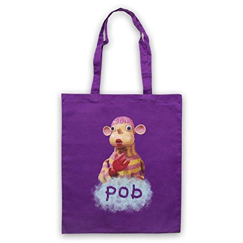 Inspiriert durch Pob TV Show Inoffiziell Umhangetaschen Violett