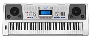 Funkey 61 Plus Keyboard (61 Tasten, Anschlagdynamik, 100 Klangfarben, 100 Rhythmen, 6 Demo Songs, Netzteil, Notenständer)
