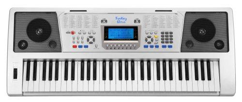 funkey-61-plus-keyboard-61-tasten-anschlagdynamik-100-klangfarben-100-rhythmen-6-demo-songs-netzteil