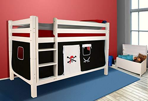 Vorhangset PIRAT Bettgardine 2-tlg. Hochbett Spielbett Etagenbett Kinderbett