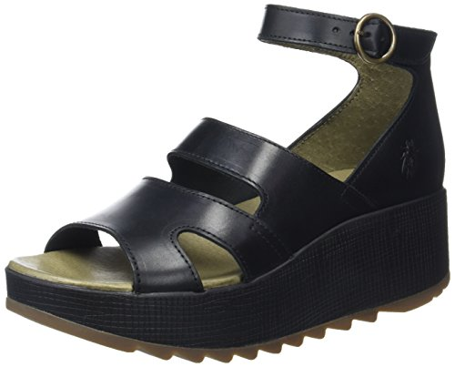 FLY London Keva976, Sandales Bride Cheville Femme Noir (Black 000)