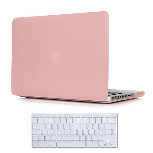 Case MacBook Pro 13 Hülle Baby Pink ,iCasso Reines Farbe design Ultra Slim Kratzfeste Matt Rutschfest Hartschale Snap Case für MacBook Pro 13 Zoll (mit CD ROM) (Modell: A1278) (Pink Snap Leder)