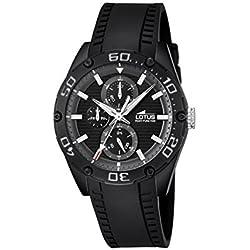 Lotus 18183/4 - Reloj de pulsera hombre, Caucho, color Negro