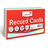 "Silvine 5x3"" Multi-coloured Record Cards - Lined with headline, 100 cards per pack. Ref 553AC (127 x 76mm)"
