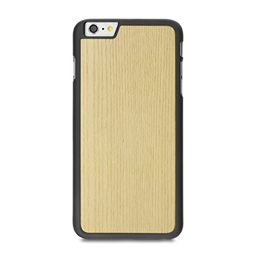 Cover-Up WoodBack schwarz Matt-Echt Holz Case for iPhone 6 / 6s Plus Mahogani - White Ash
