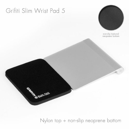 grifiti-slim-wrist-pad-5-with-black-nylon-surface-and-non-skid-neoprene-base-is-a-4-x-5-x-025-inch-w