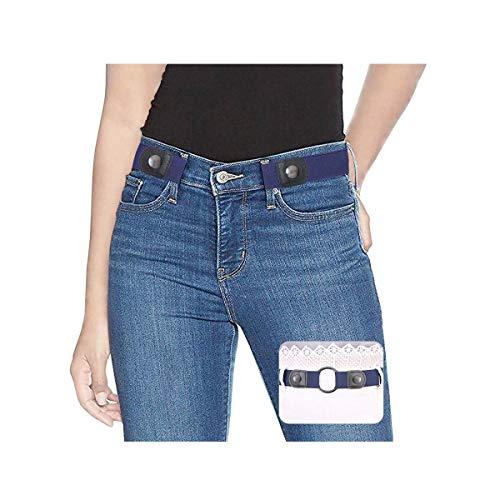 SUOSDEY Elastischer Gürtel Damen Herren Stretchgürtel Damen Unsichtbarer Gürtel Ohne Schnalle Für Jeans Hosen Taillen Gürtel Damen keine Schnalle - Damen Fashion Schnallen