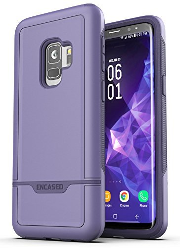 Encased Samsung Galaxy S9 [Rebel Series] Handyhülle - robuste Hülle & sturzsichere Premium Armor Panzercase Schutzhülle & Cover in Dunkel Lila Otterbox Armor Serie