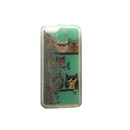 Fun Case Chouette 4pour iPhone 4/4G/4S coque Cover Case paillettes étoiles liquide poussière d'étoile Hard Case