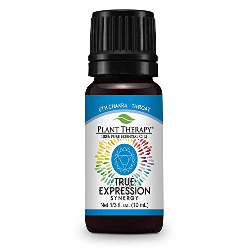 Plant Therapy Chakra 5 True Expression Synergy (Throat Chakra) 10 mL (1/3 oz) 100% Pure, Undiluted, Therapeutic Grade