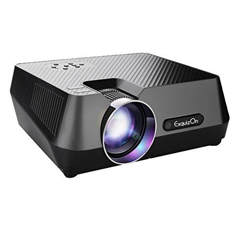 Exquizon GT-S9 Vidéoprojecteur 800 * 480 Portable Multimédia LCD Projecteur Soutien USB Connexion par Cable Avec Smartphone Interfaces d'USB VGA AV TF de HDMI pour Home Cinéma