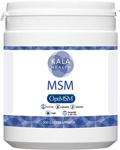 """Kala Health - OptiMSM® Mehrstufige Destillation (Methylsulfonylmethan) grobes Pulver (\""""Coarse Flakes\"""") 500g, Nahrungsergänzungsmittel organischer Schwefel für Gelenke, Haut, Haare & Nägel - Laborgetestet - KEINE ZUSATZSTOFFE - 100{31ccdc8cd53d0d34f0c4feab4c4453e03a3fd71e0ddf249e8567073c798cdc6d} Vegan - Hergestellt in den USA - 1 Zutat"""