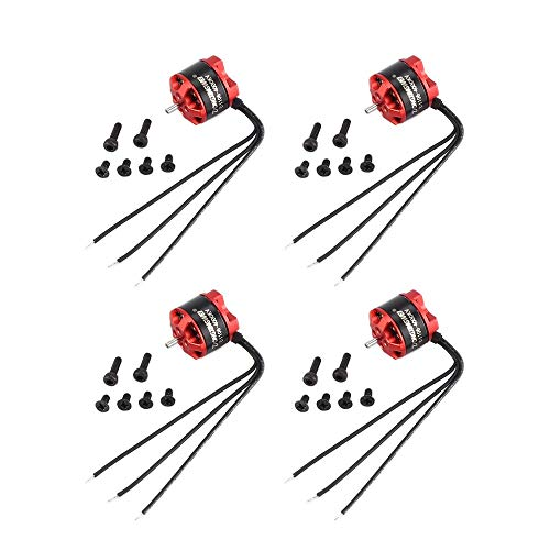4 Stücke DXW D1106 4000KV 1-3S Mini 1,5mm Brushless Motor für 90mm Micro RC Racing Drone Multicopter Quadcopter Aircraft UVA (Brushless Micro Rc)