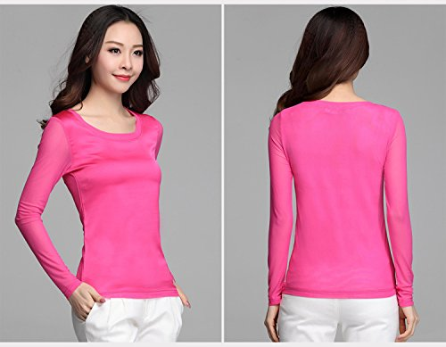 Blooming Jelly Damen Bluse Hot Pink