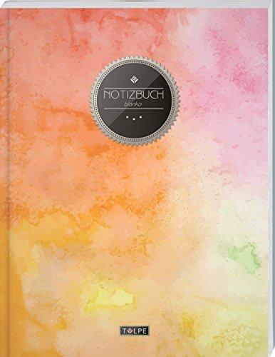 """Für Blanko-bücher Weiße Kinder (TULPE Blanko Notizbuch A4 """"C072 Bunte Wände"""" (140+ Seiten, Vintage Softcover, Seitenzahlen, Register, Weißes Papier - Dickes Notizheft, Skizzenbuch, Zeichenbuch, Blankobuch, Sketchbook))"""