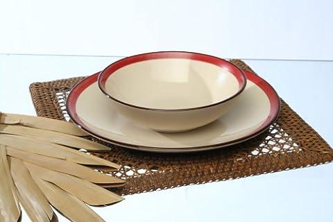 Service Vaisselle 18 Pieces - Tognana Service de table 18 pièces Fogolar